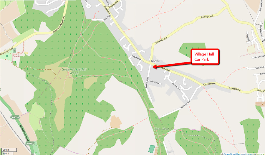 Naphill Common Village Hall Map